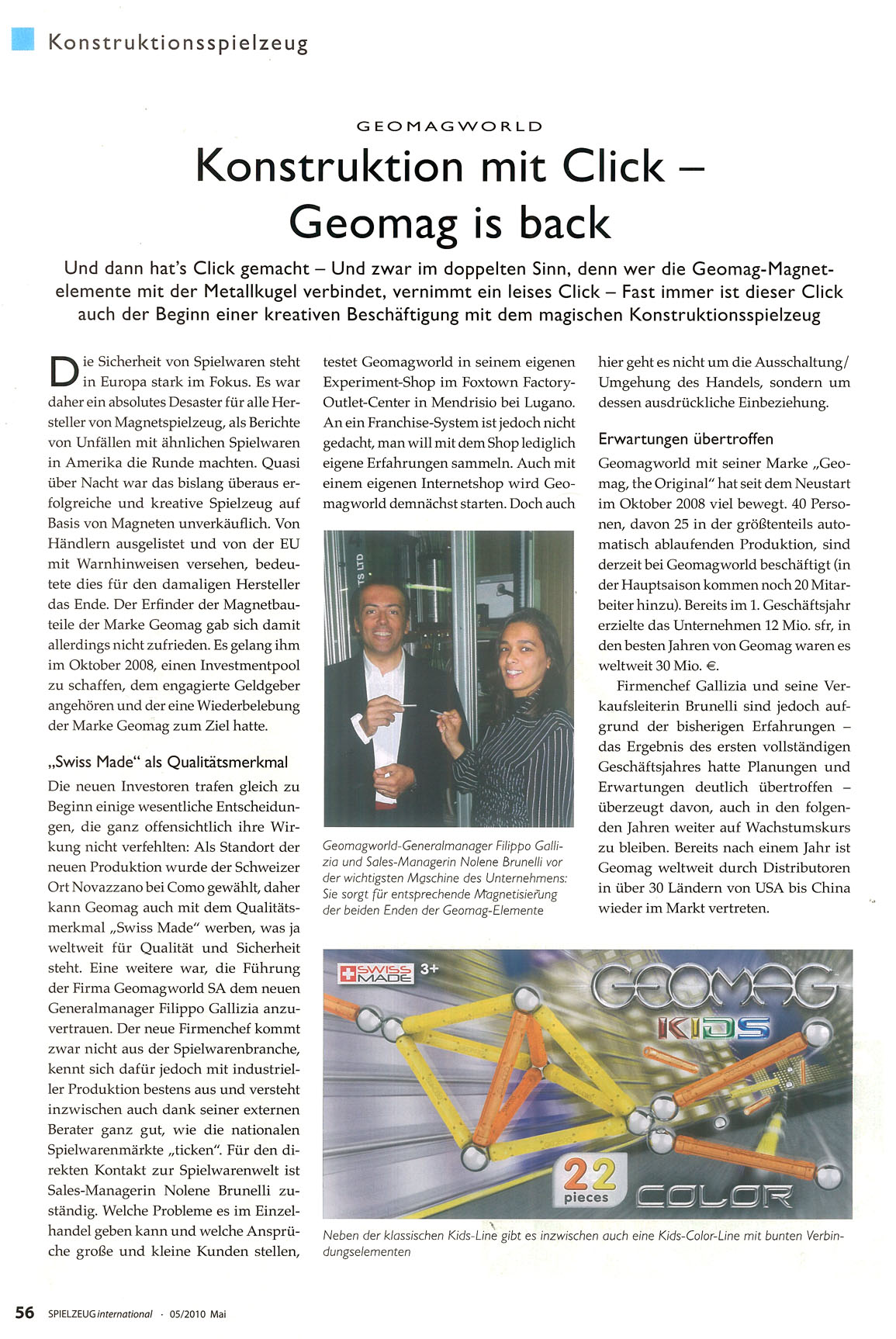 Geomag article page 1 - Spielzeug International May 2010.jpg