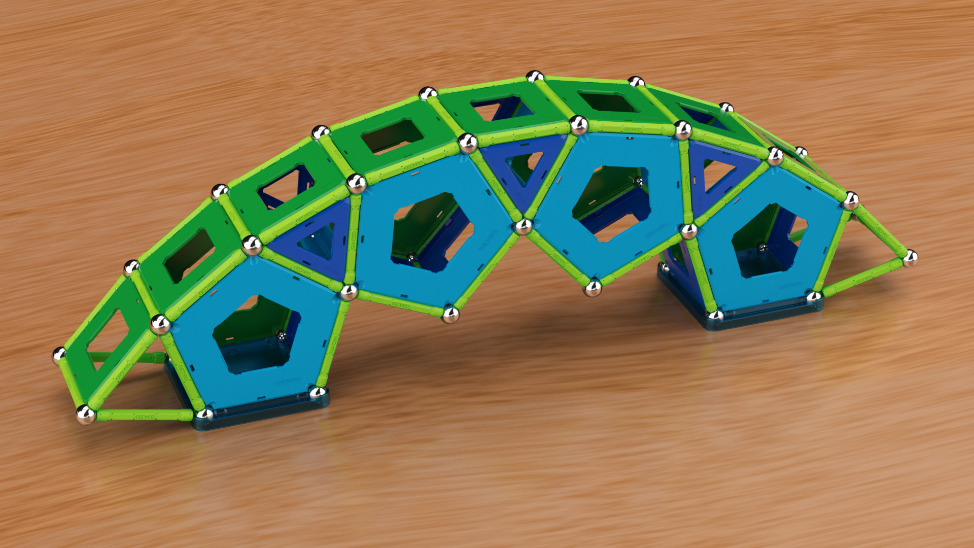 GEOMAG Item 464 Pentagon bridge on square platform feet.jpg